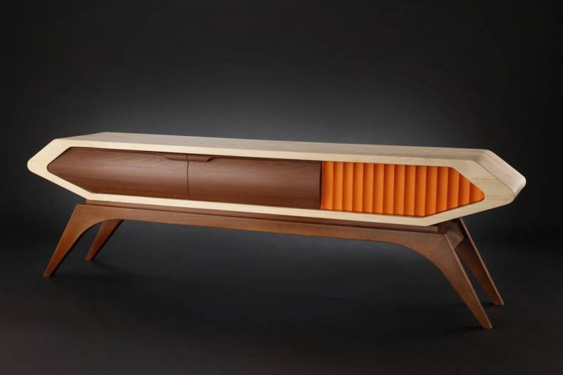 Highly stylized custom furniture by Jory Brigham