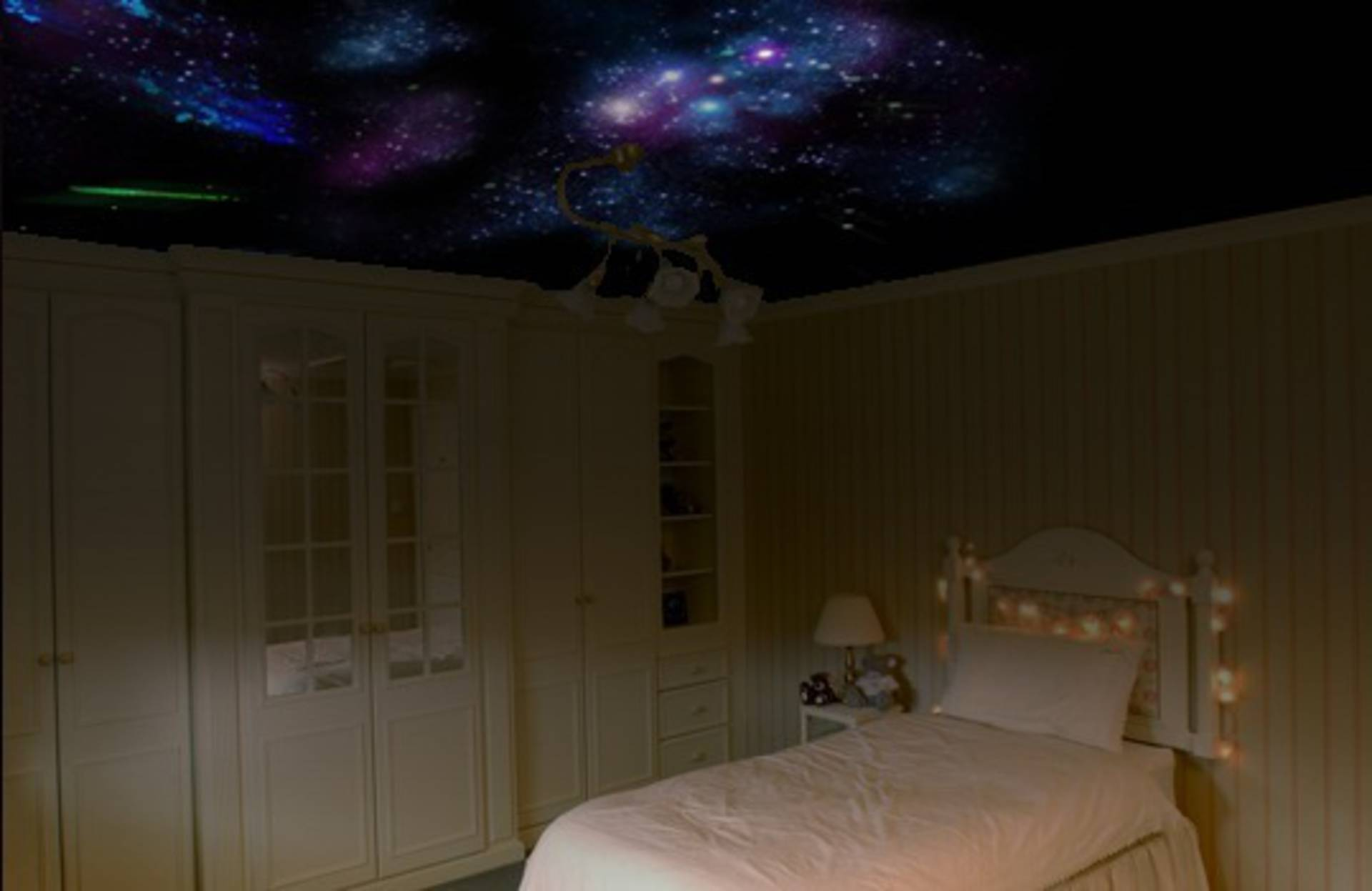 Night Starry Sky On Your Bedrooms Ceiling How To Home Reviews - How-to-make-a-starry-night-ceiling-in-the-bedroom
