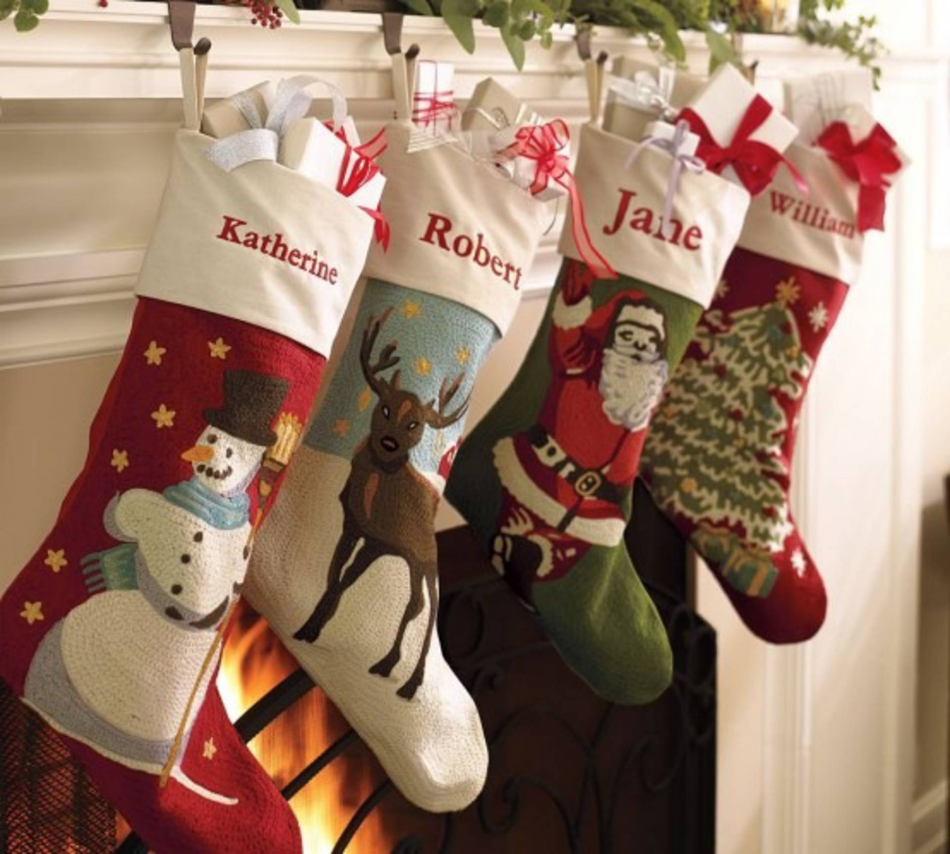 monogrammed pottery stockings personalised pretty bean embroidered appealing faux fur quilted barns decoration decorating barn stocking for christmas stocki ll ideas