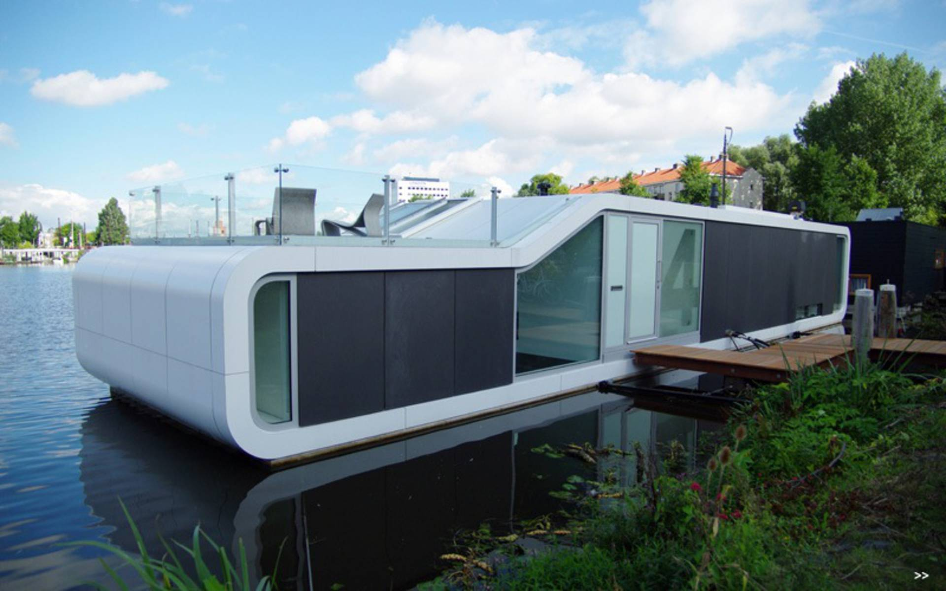 Delightful The Unique Two Storey Water House In Amsterdam Ideas