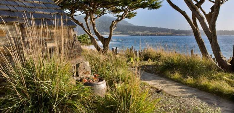 Rivermouth Landscape in Carmel, California by Bernard Trainer