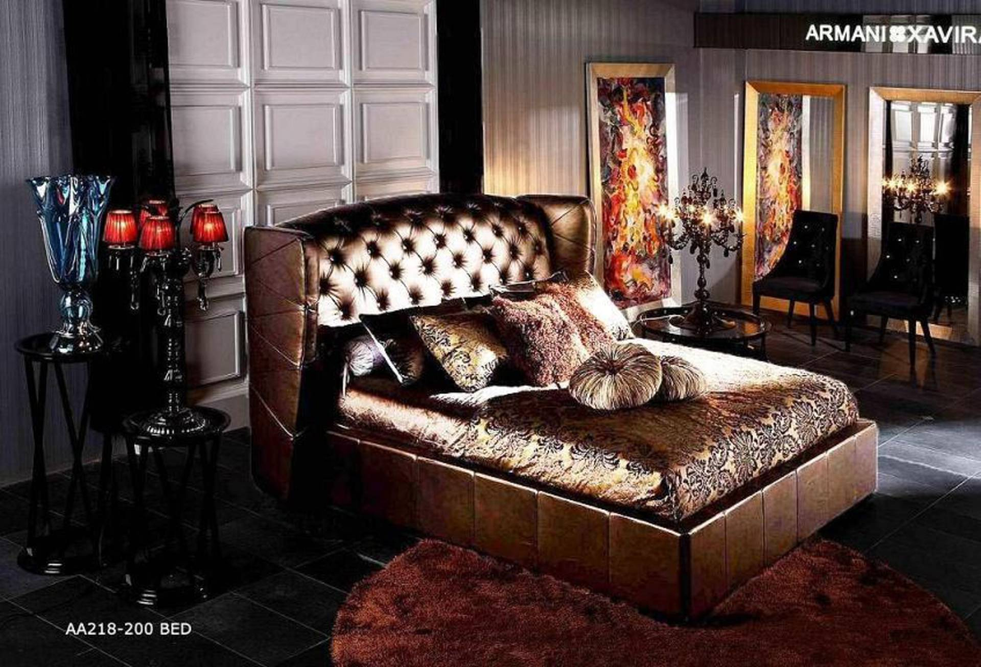 Armani Xavira Leather Bed For Your Majesty
