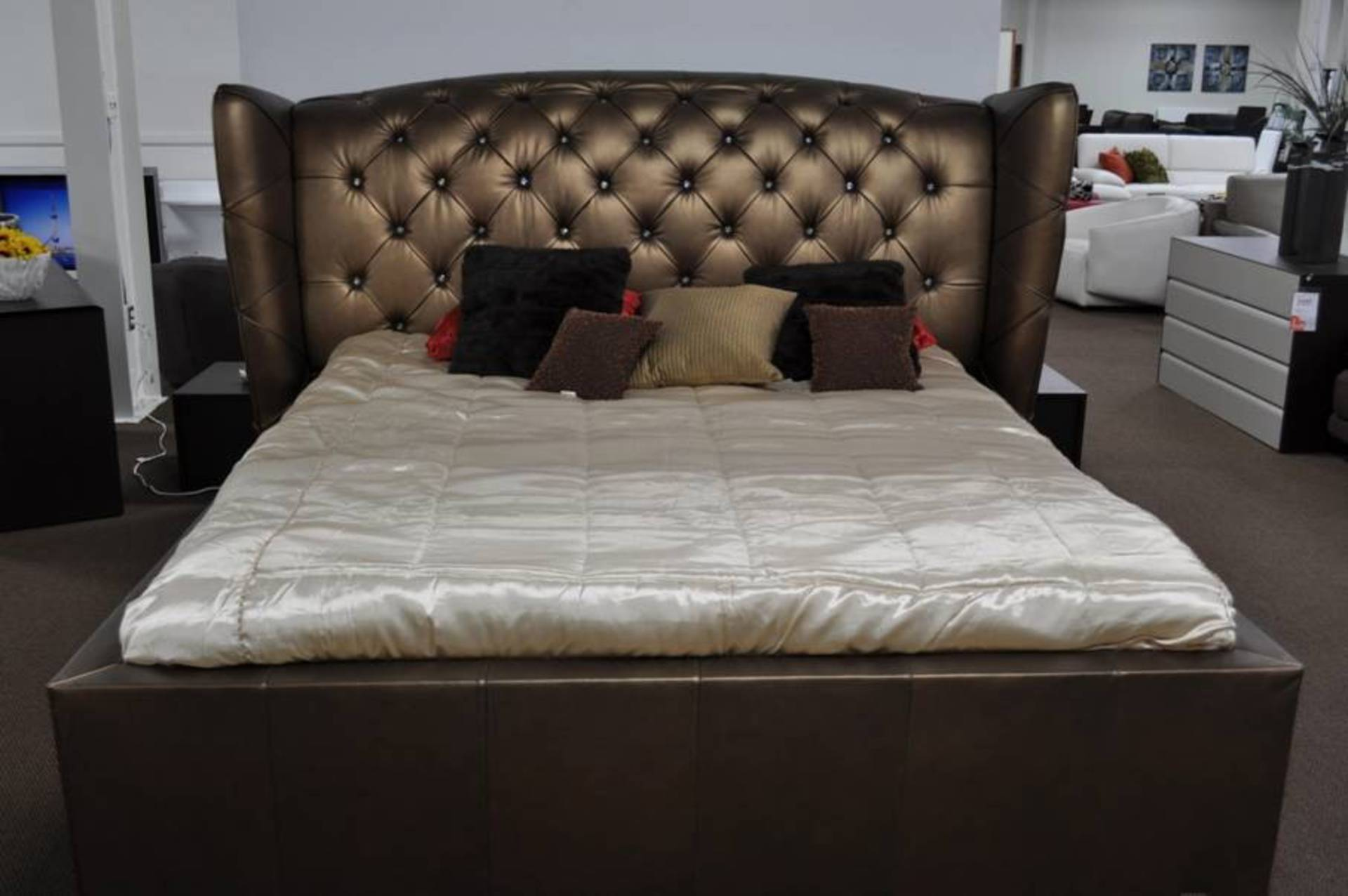 armani bedroom furniture. armani xavira leather bed for your majesty bedroom furniture