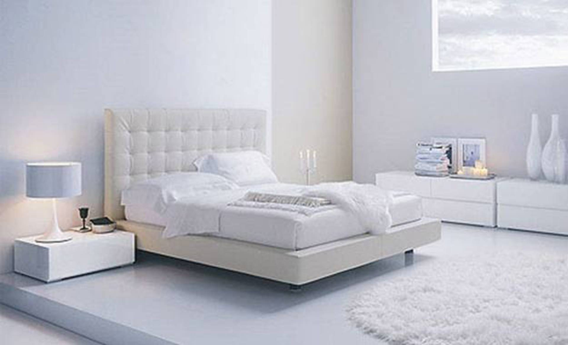 Bedroom Design Ideas: Contemporary White Bedrooms - Home Reviews
