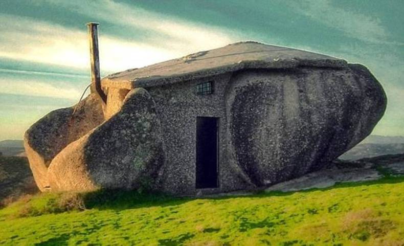 Unusual Stone House in Portugal