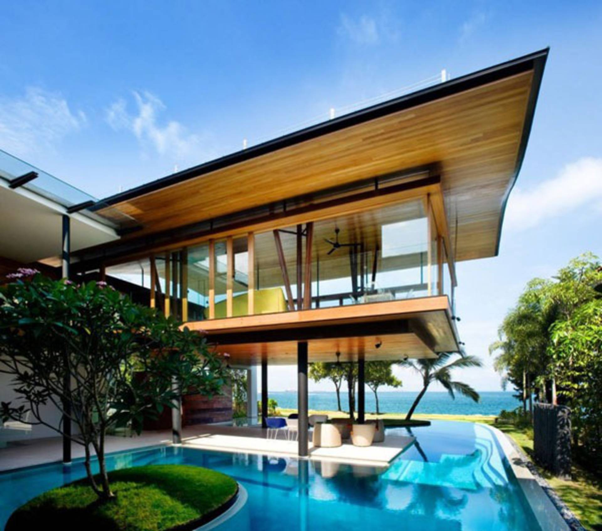Modern bungalow by guz architects home reviews - La residence exotique fish house singapour ...