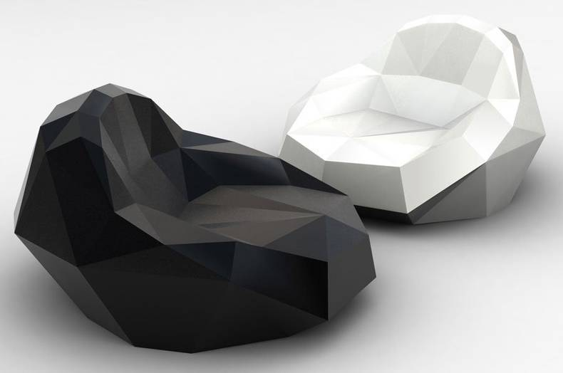 Futuristic Crystal Chair by Igor Solovyov: Diamonds are a girl's best friends
