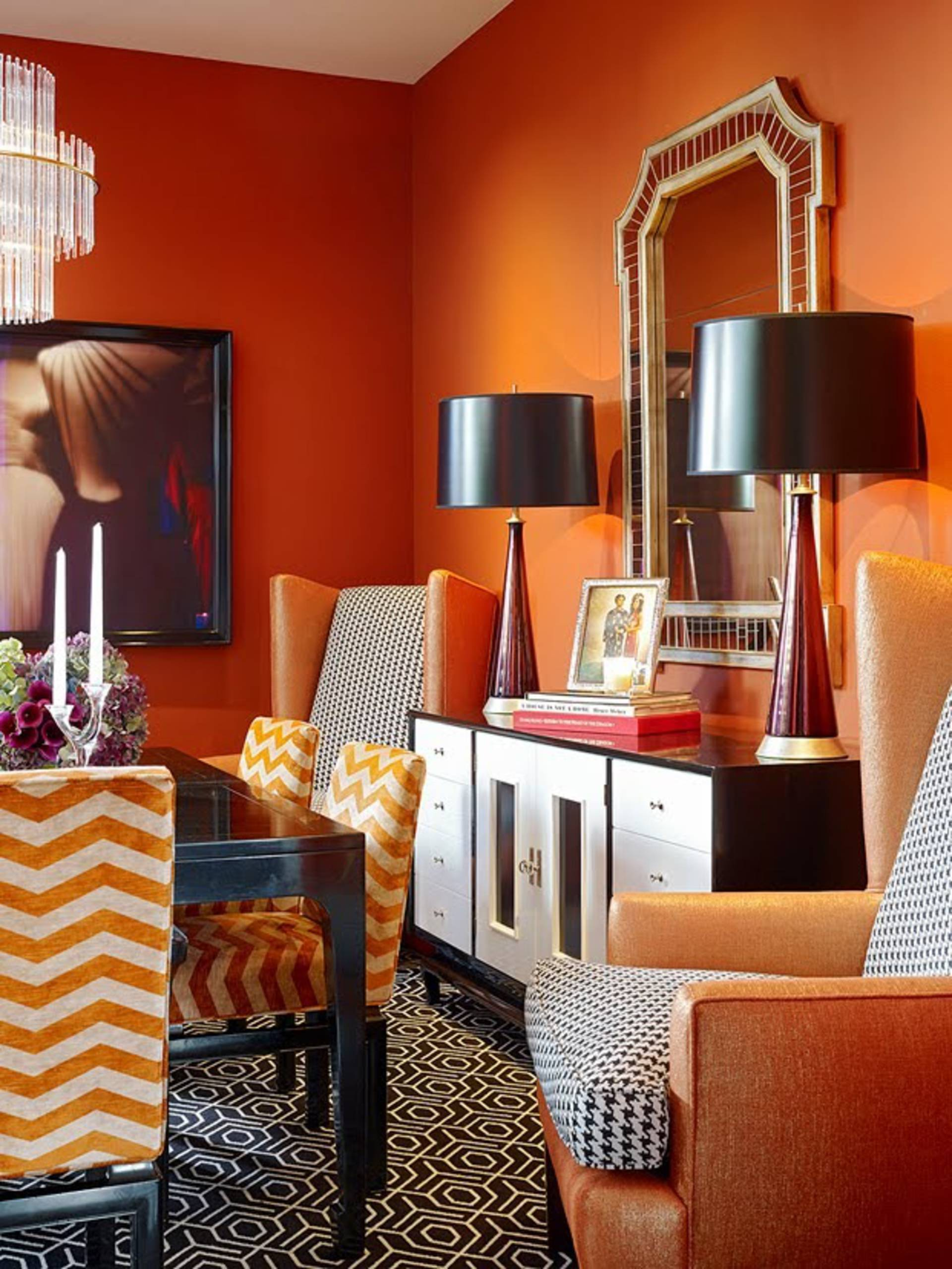 Orange Color In The Interior Design Home Reviews