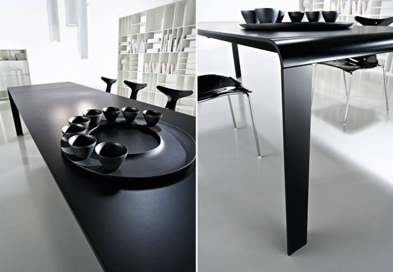Slim Futuristic Dining Table by KREATY