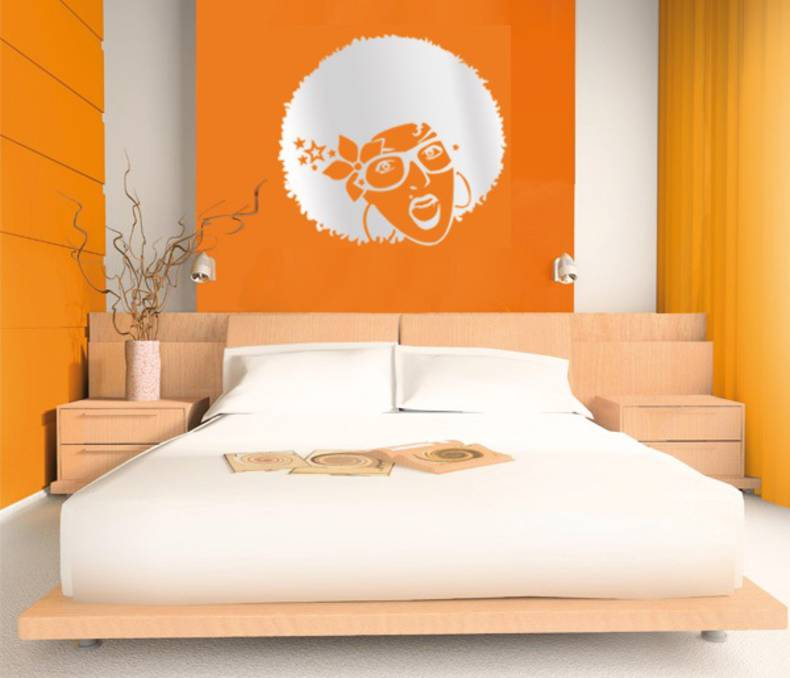 Mirrored wall stickers