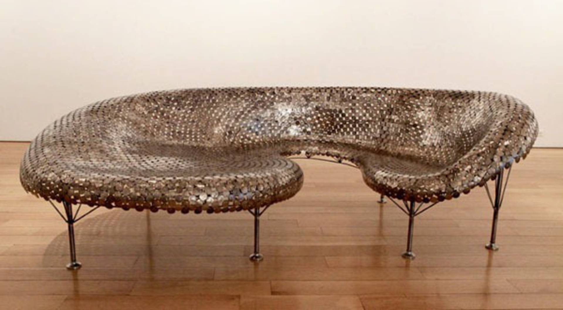 Daring sofa made of coins by Johnny Swing Be The King Home Reviews