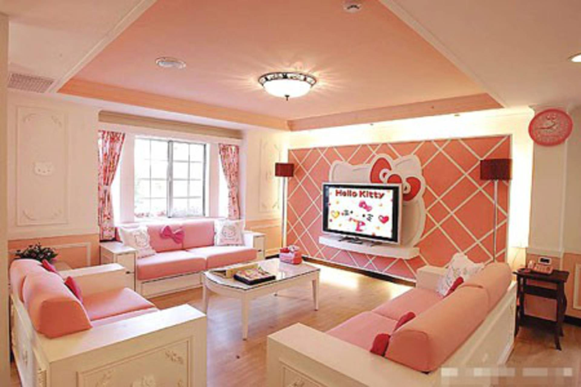The House Of A Dream Coloured Pink Hello Kitty Theme
