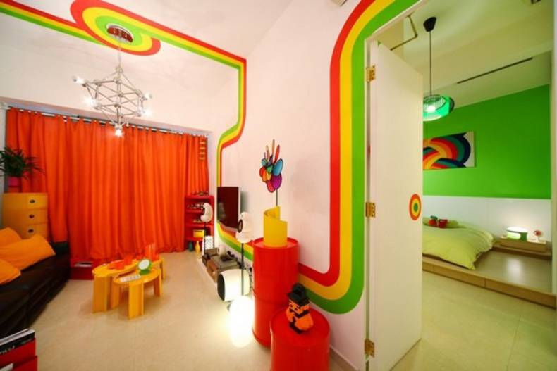 Brightness and Creativity: Rainbow House by Moderne