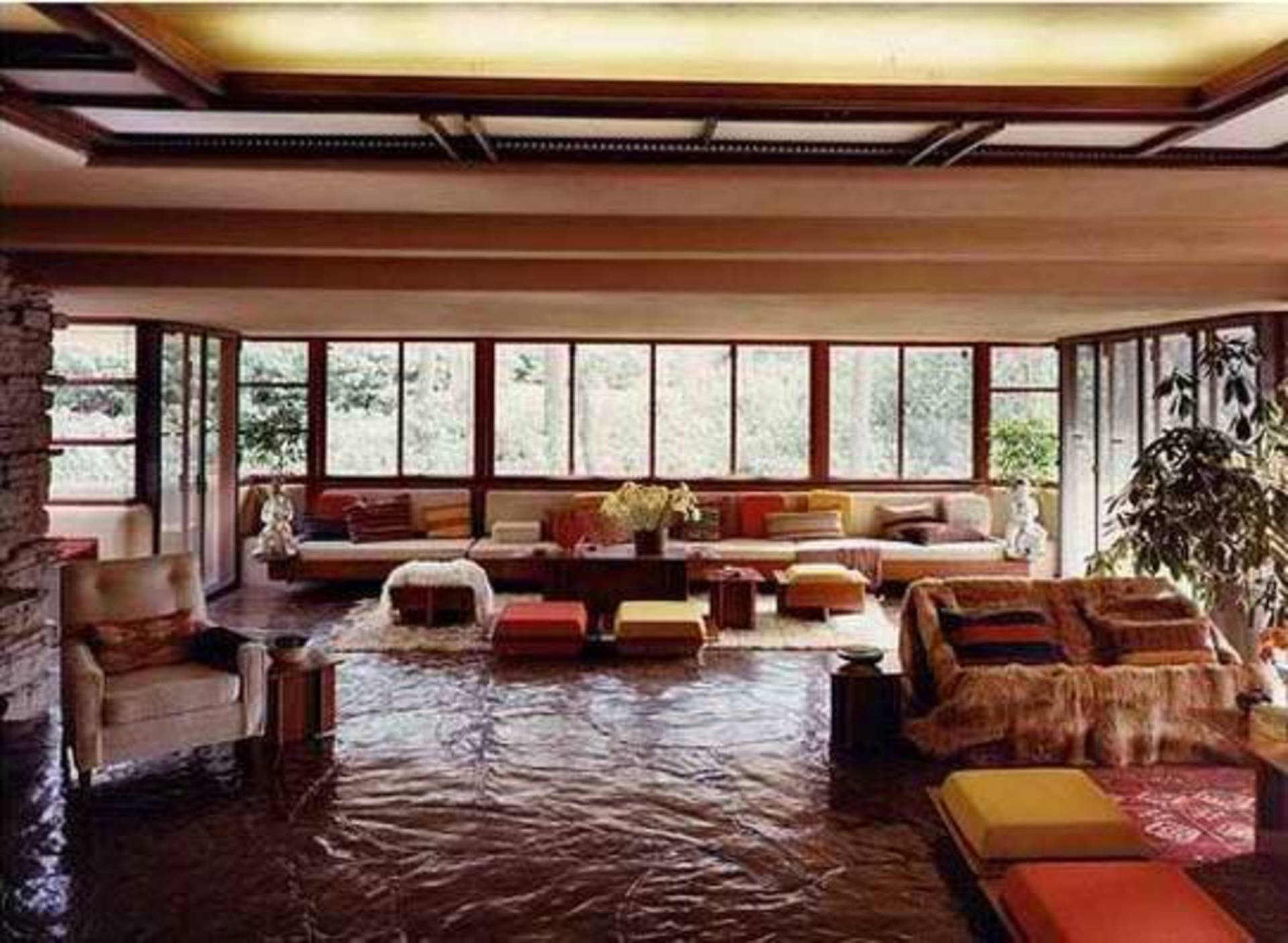 Fallingwater: Extraordinary Beautiful Waterfall House in Pennsylvania By  Frank Lloyd Wright ...