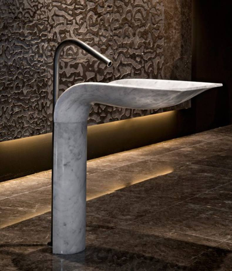 Ciuri - Noble Marble Pedestal Sink by Lithea