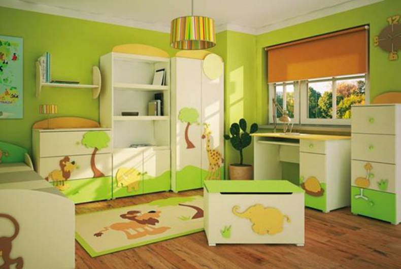 Bright Kids Room Design Ideas