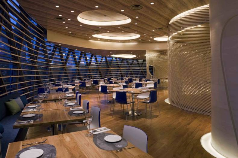 The nautilus project restaurant with awesome interior