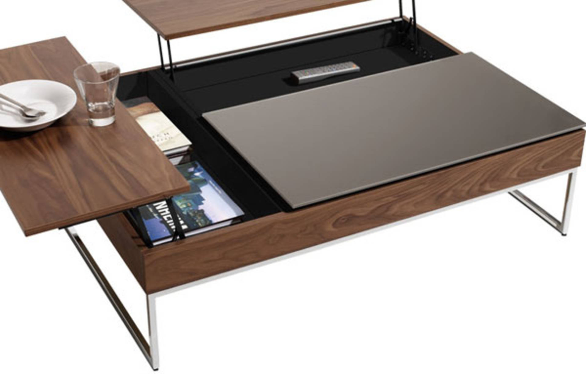 Coffee table with hidden storage space by bo concept home reviews coffee table with hidden storage space by bo concept geotapseo Choice Image