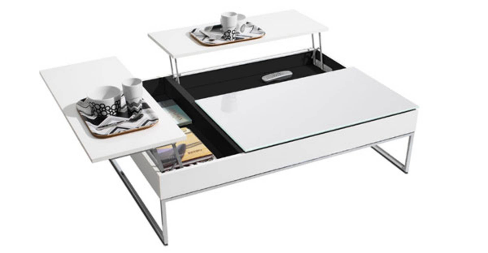 Coffee Table With Hidden Storage E By Bo Concept