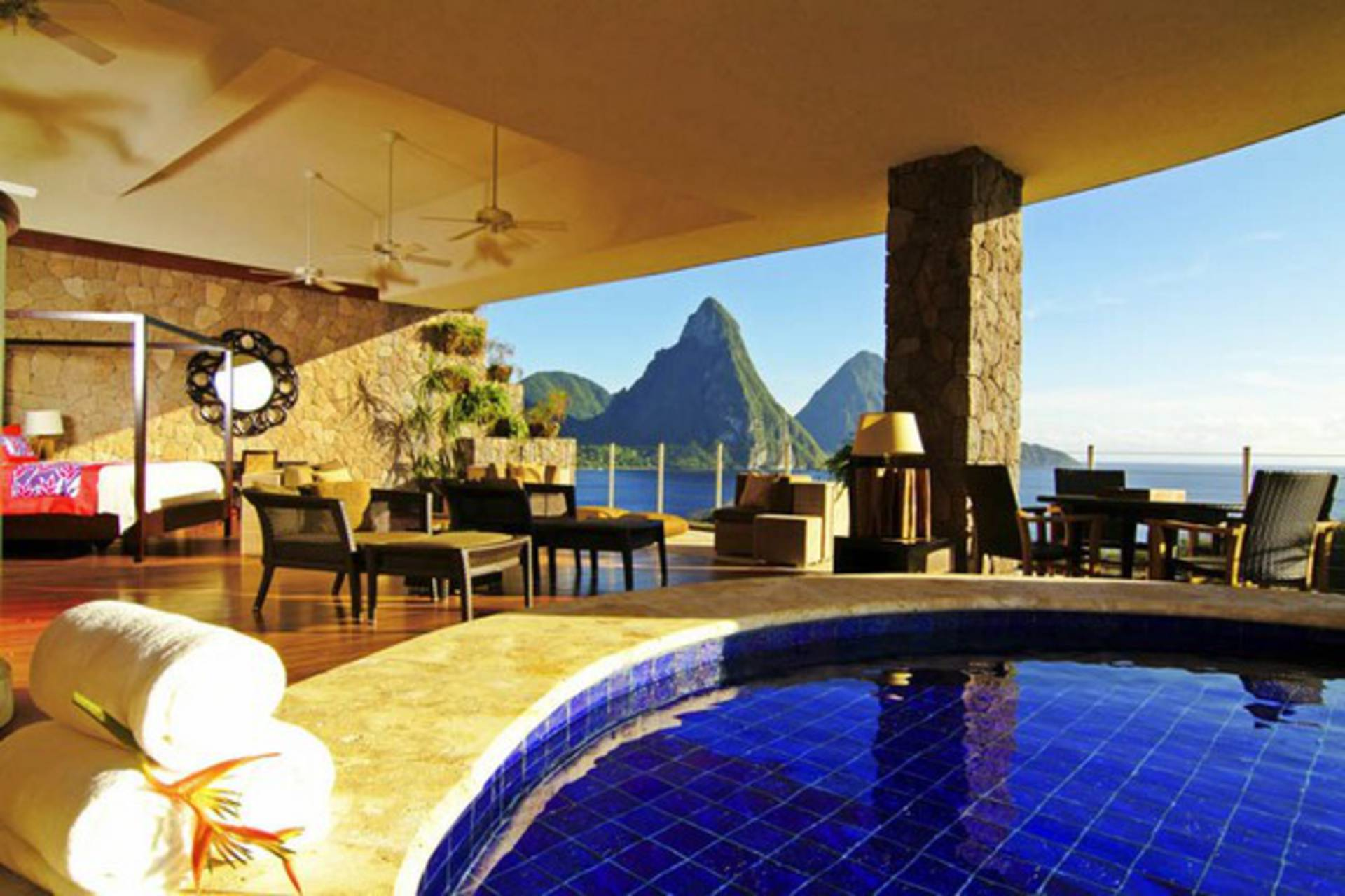 luxury jade mountain resort in st. lucia - home reviews