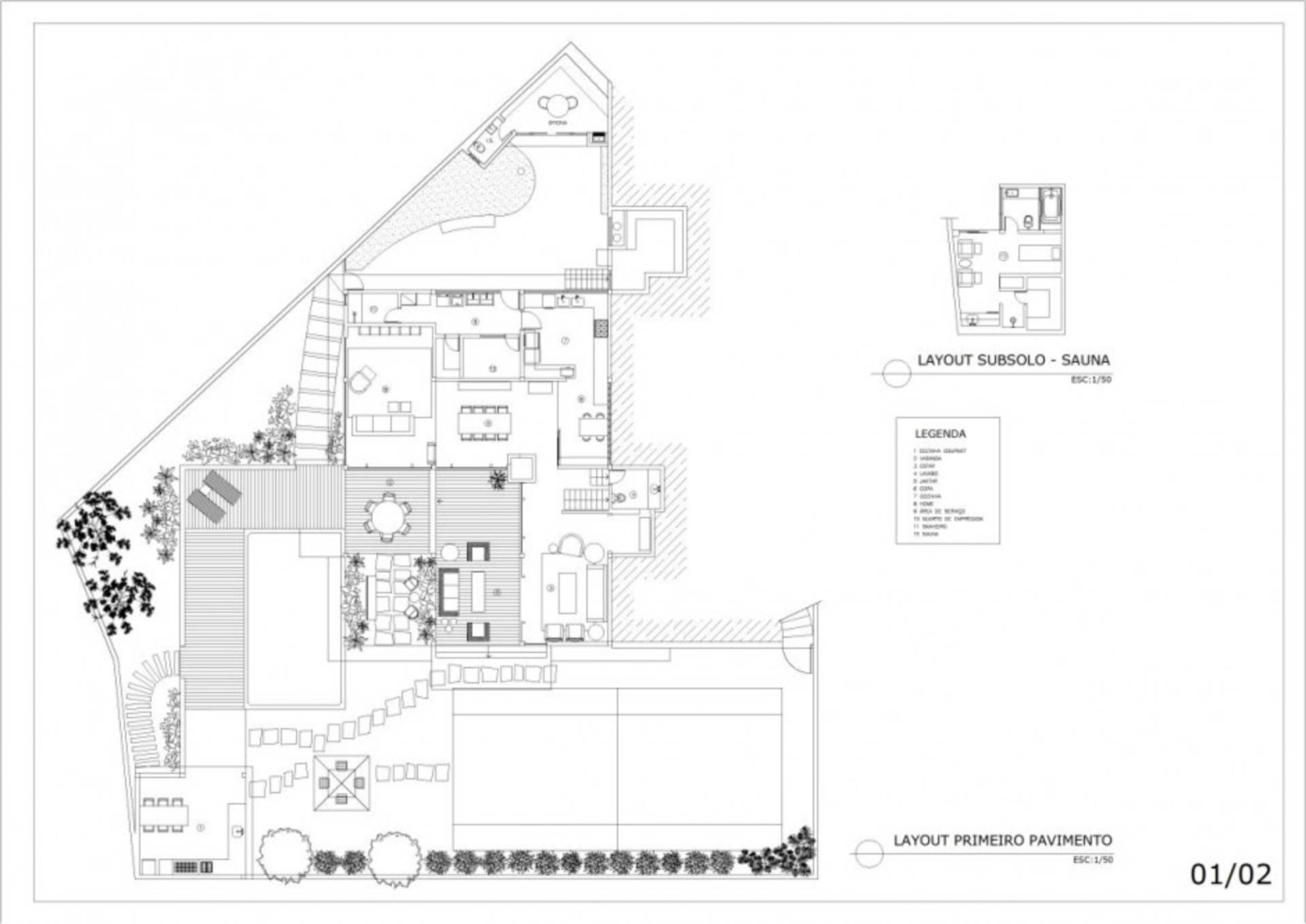 Garden house renovation project by david guerra home for Garden home floor plans
