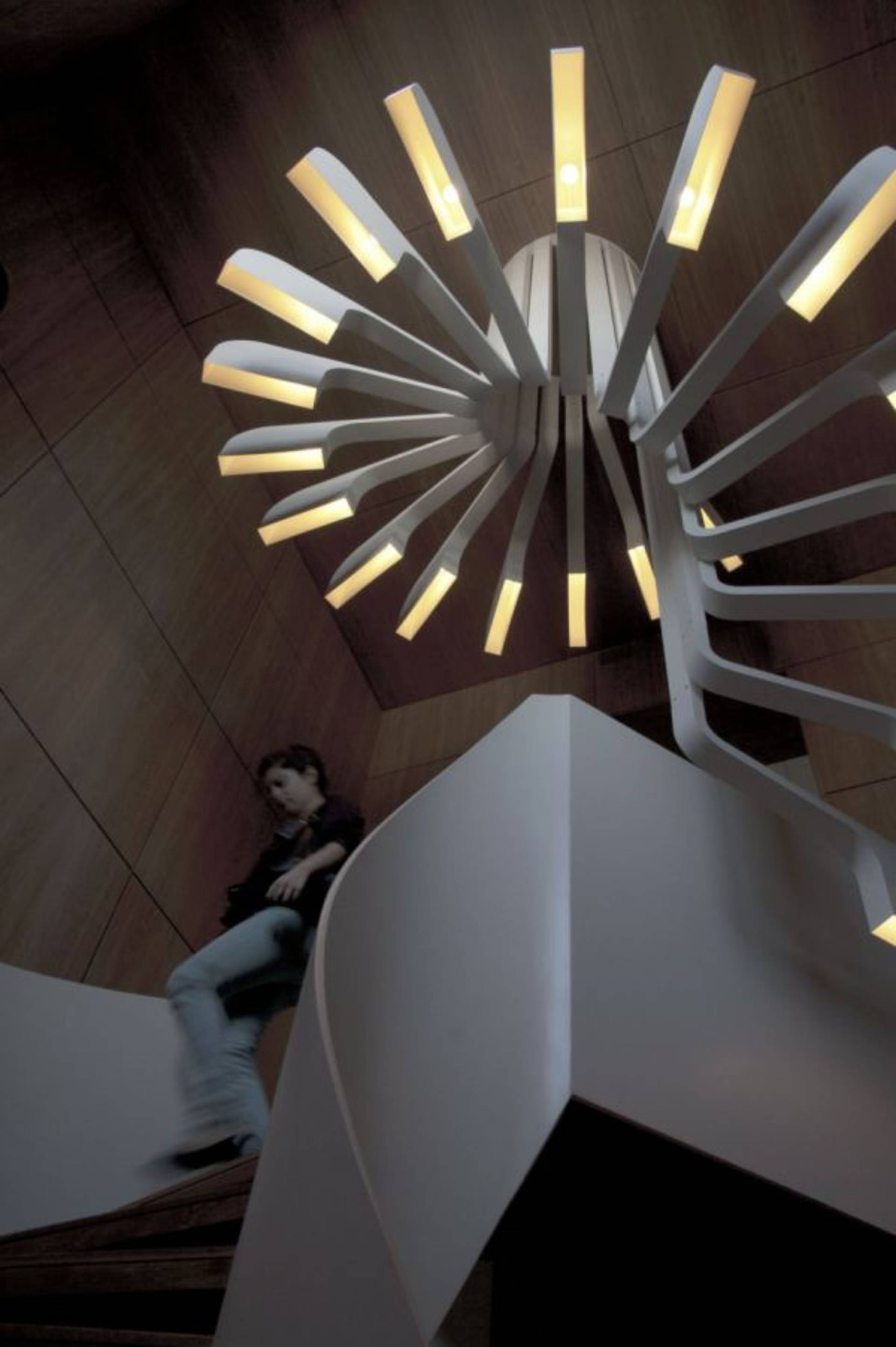 Futuristic Lighting For A Staircase By PSLAB