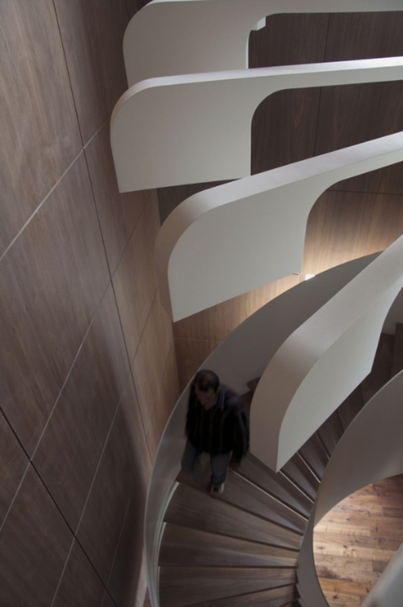 Futuristic Lighting For A Staircase By Pslab Home Reviews