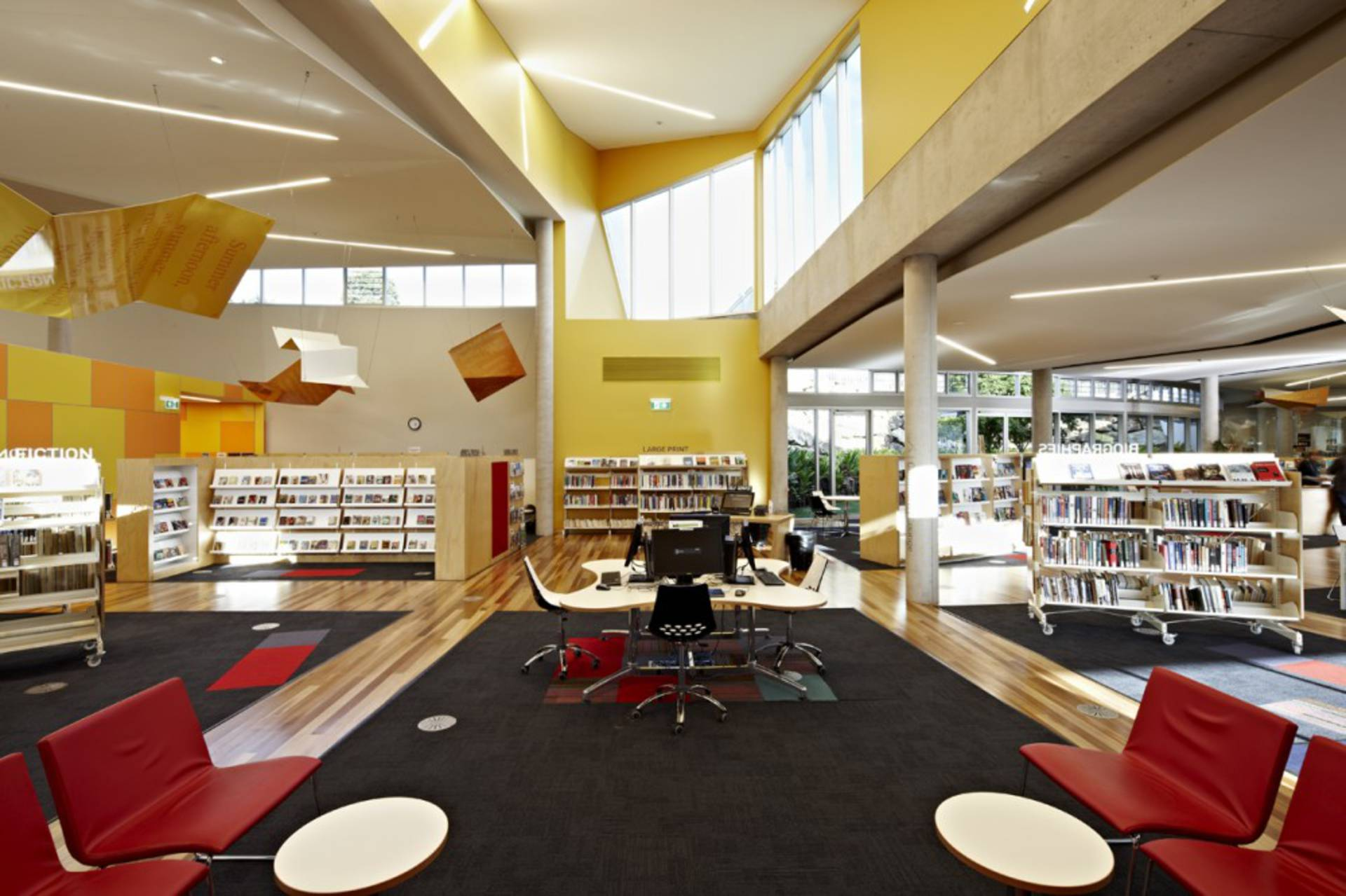 Cooroy library and digital information hub in queensland for What s an interior designer