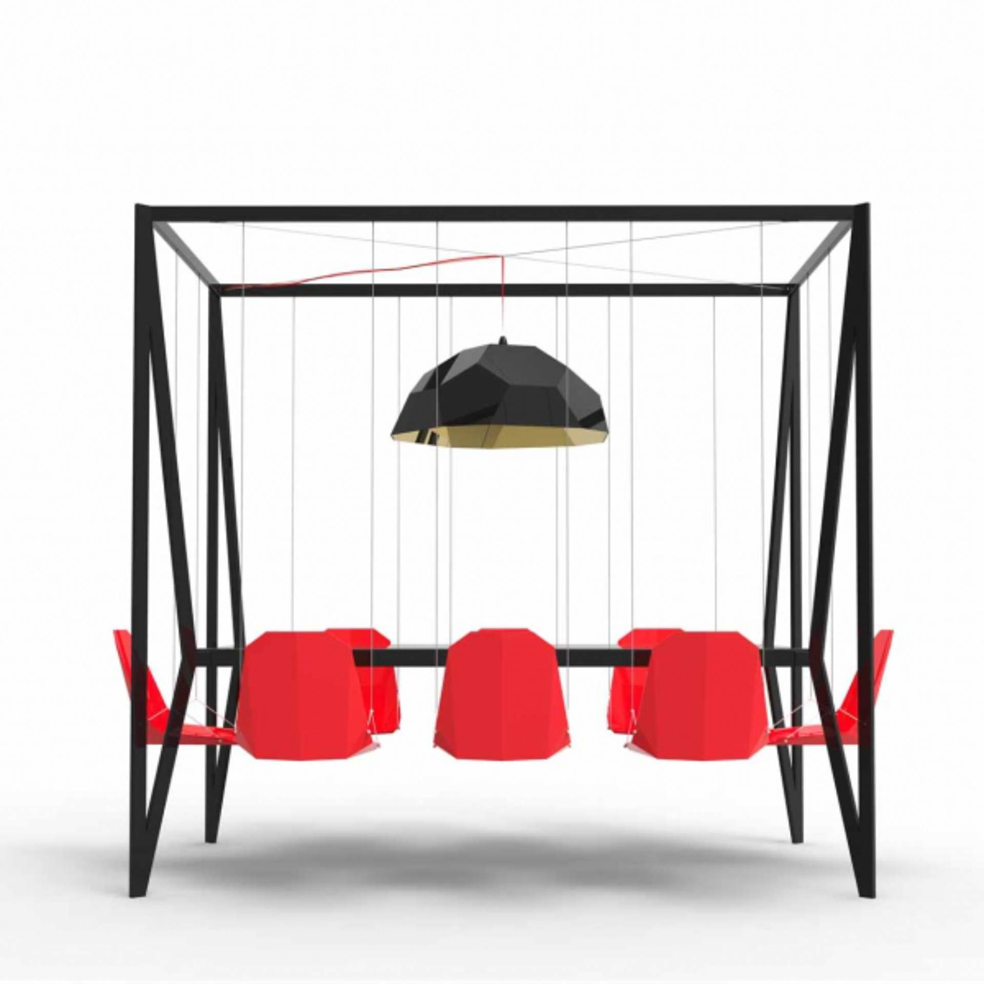 Swing Table with Swinging Chairs by Duffy London Home Reviews