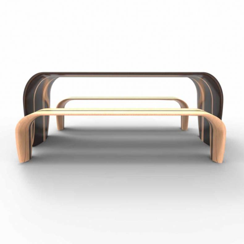 Table and Bench by Duffy London company