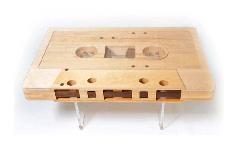 Coffee Table Shaped Real Audio Tape