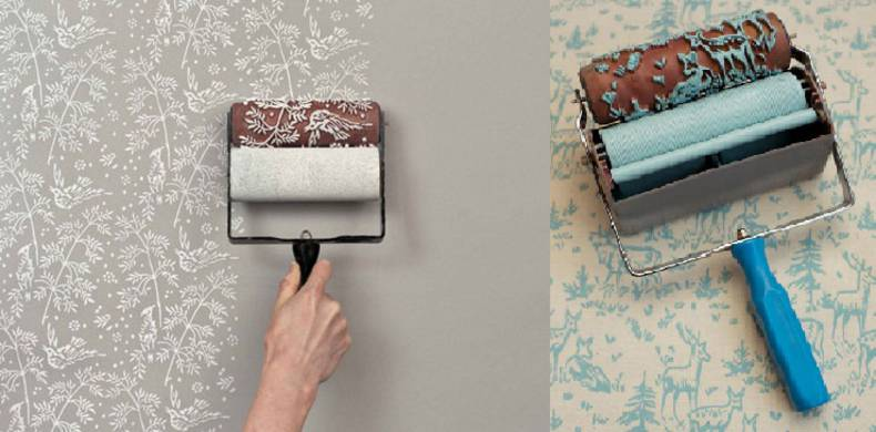 Paint Rollers for Wallpapers and Elements of an Interior