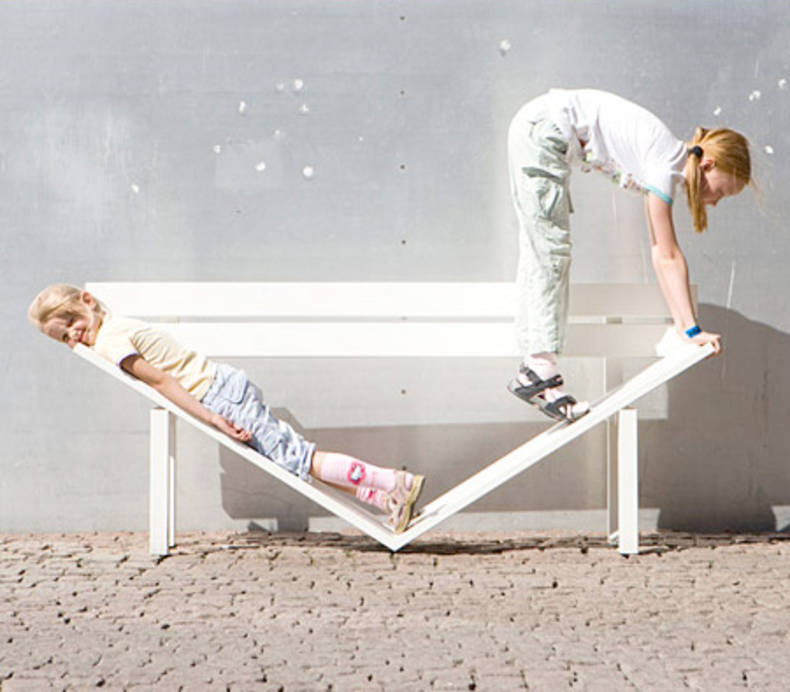 """Modified Social Benches"" by Jeppe Hein"