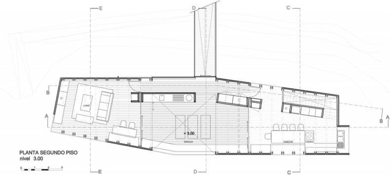 The House on the Beach of the Pacific Ocean by Nicolás del Rio and Max Núñez