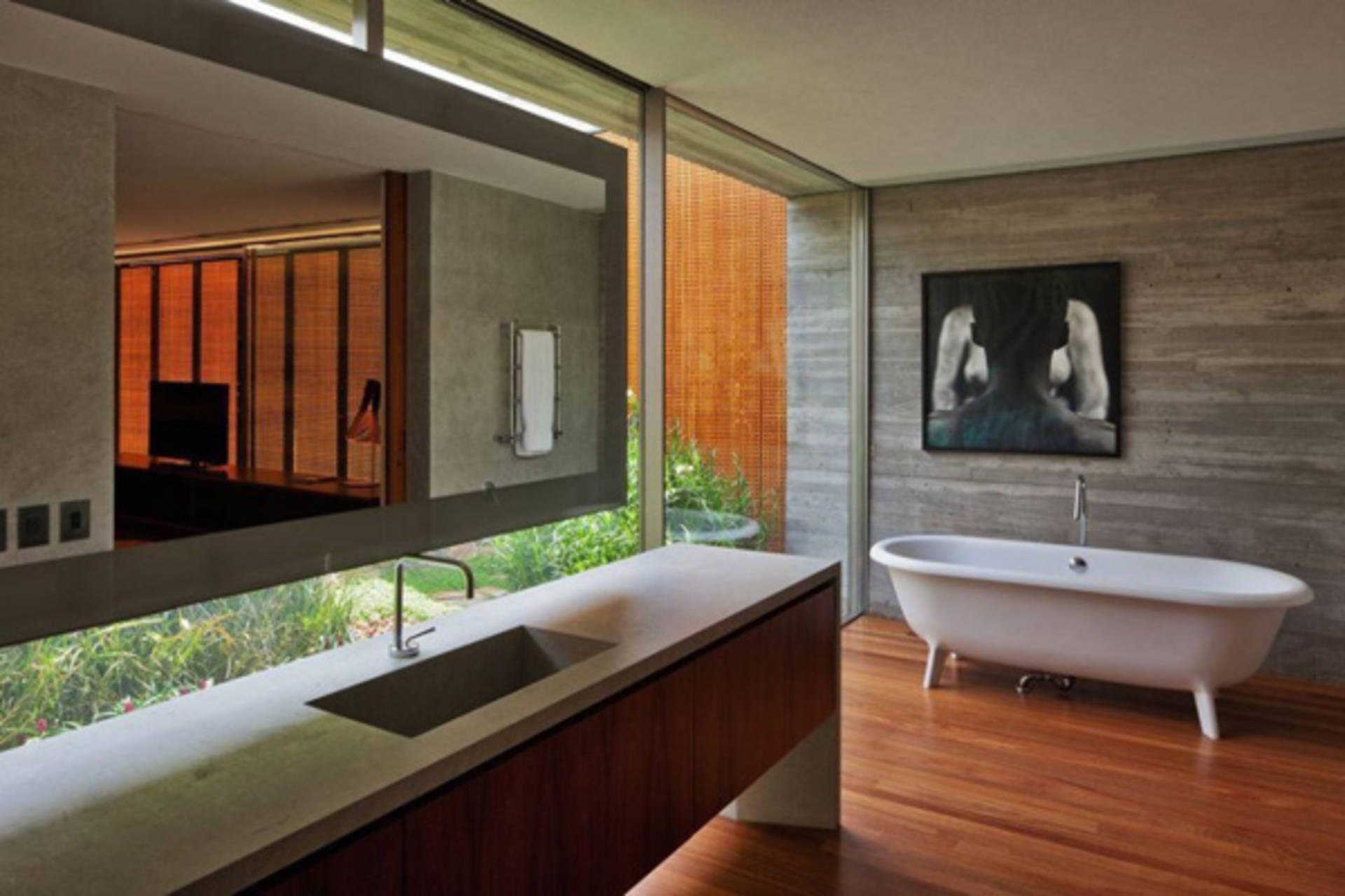 The House with Sliding Glass Walls by Studio MK27 Home Reviews