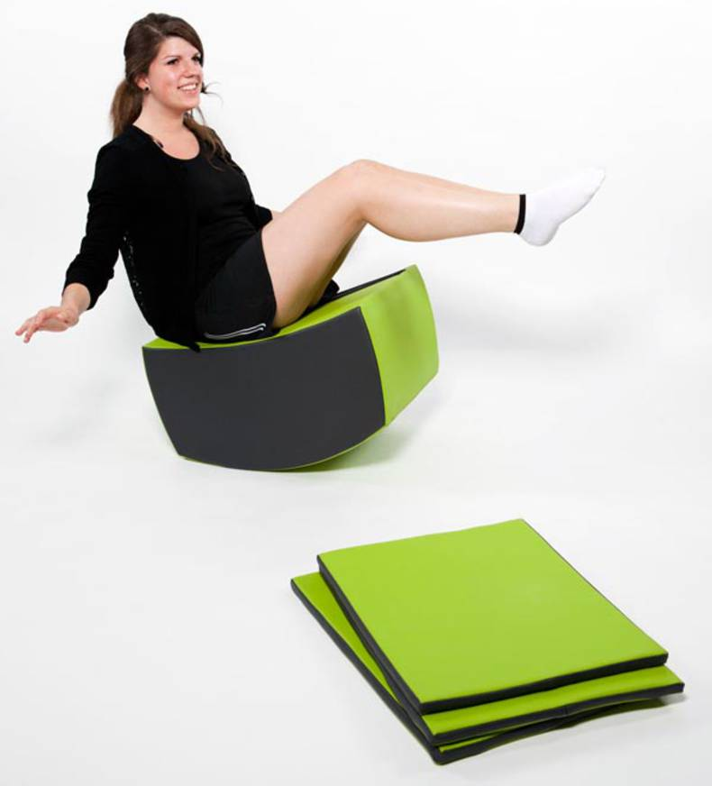 Jopple stool for Fitness by Jaigu, Mathilde de Colnet and Marion Veauvy