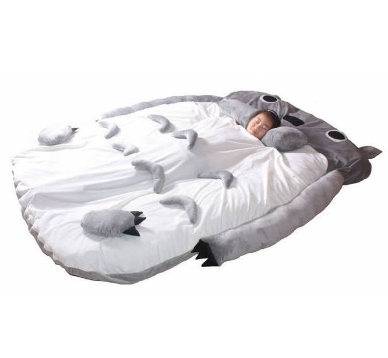 Comfortable Bed and Sleeping Bag Totoro