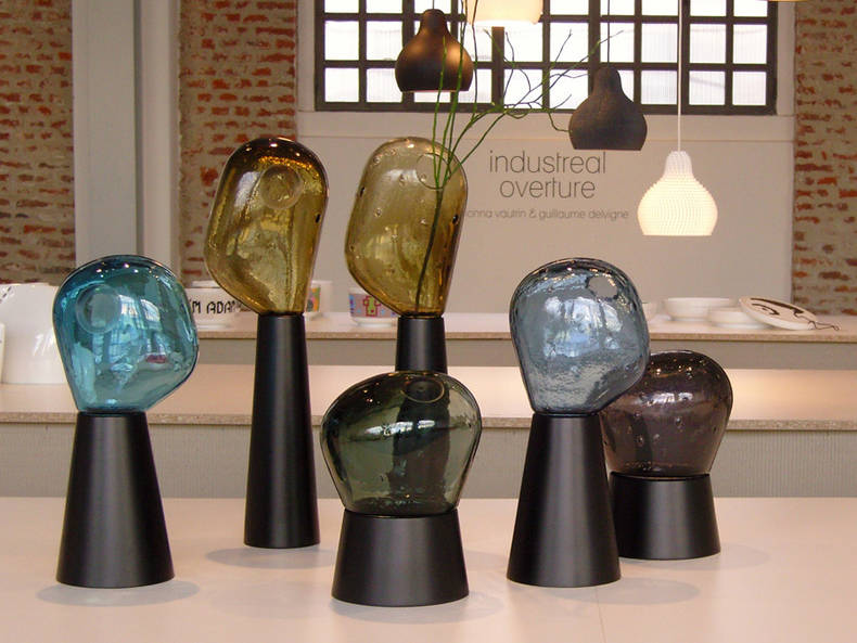 'Fabbrica del vapore' Vases in Mouth Blown Glass Created by Ionna Vautrin and Guillaume Delvign