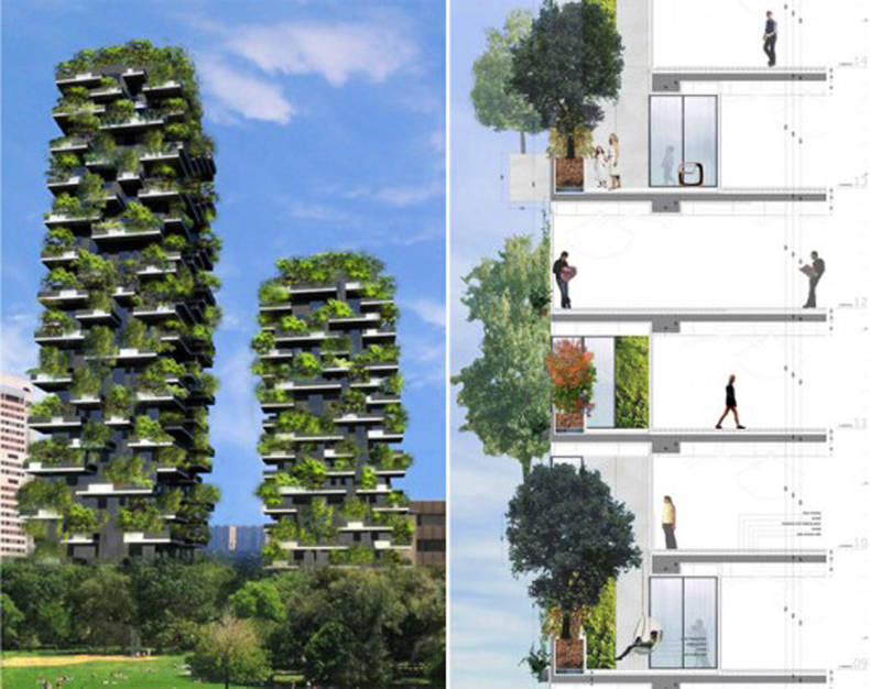 Quite Literally Green Towers in Milan