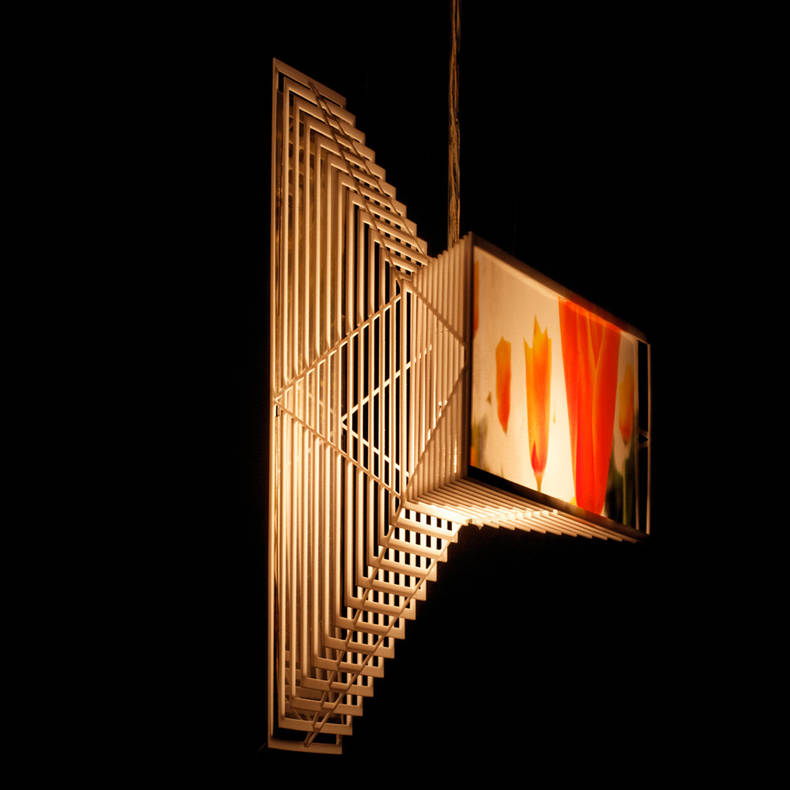 Photo Frame and Lamp in one Project - Splite - by Jaakko van 't Spijker