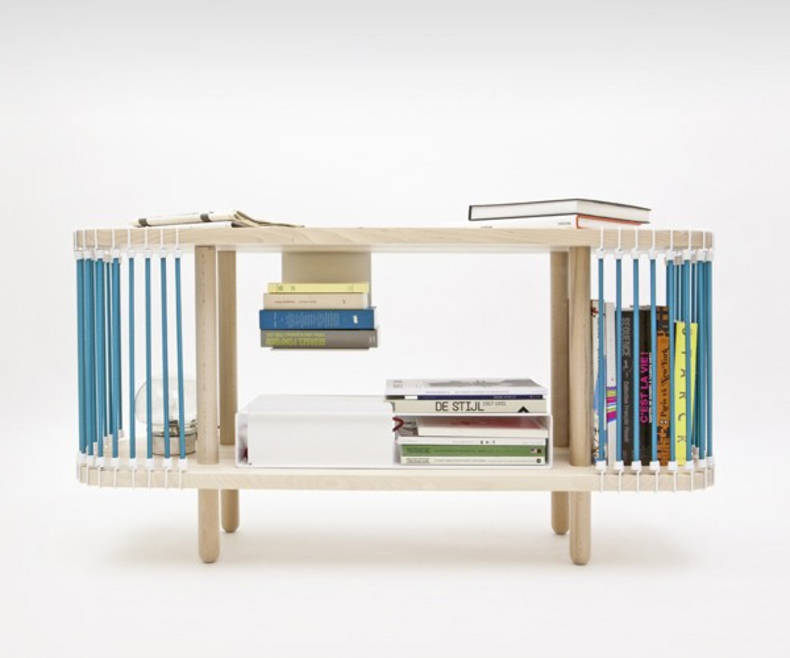 Bookcase and Coffee Table in one by Cyril de Moulins