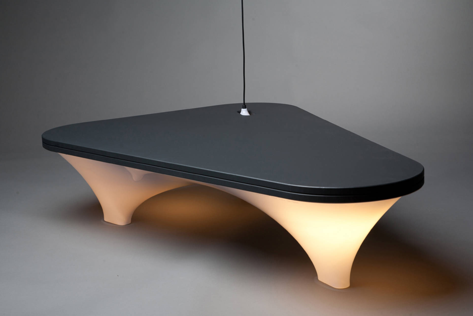 Stylish Plastic Illuminated Table by Han Koning Home Reviews