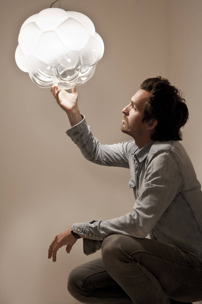 Cloudy Lamp of Gradient Glass by Mathieu Lehanneur