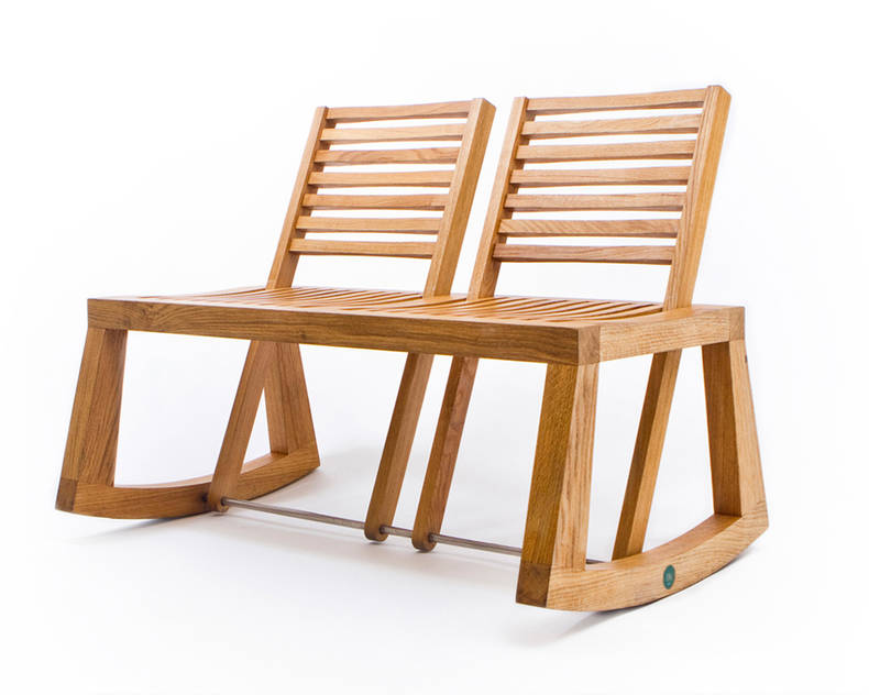 The Double View Bench by Chloe De La Chaise