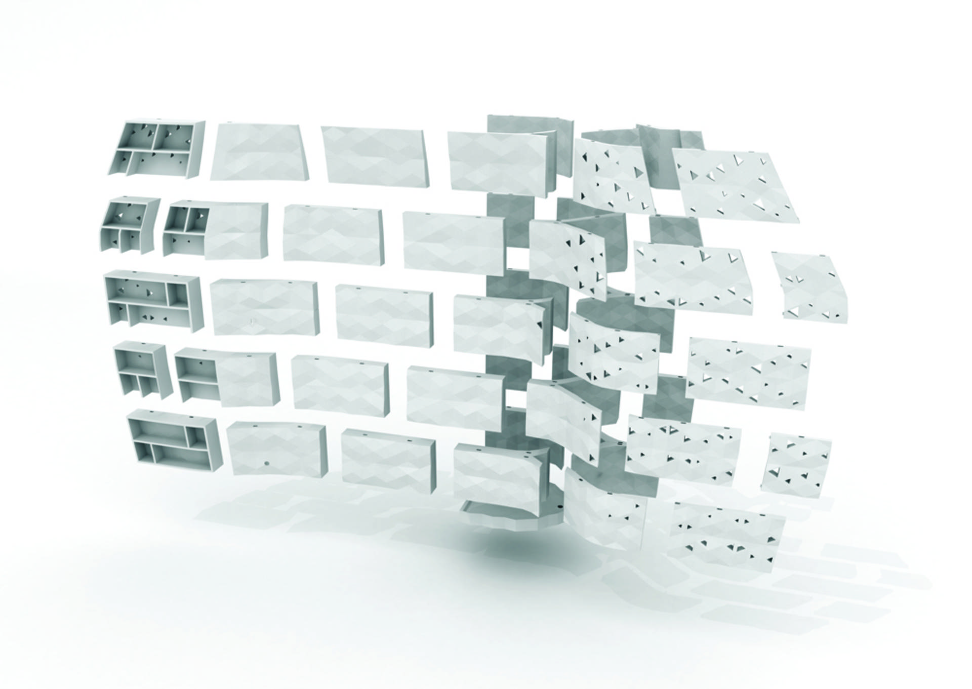 3D Printed Walls by Bryuman Franois and Sonia Laugier Home Reviews