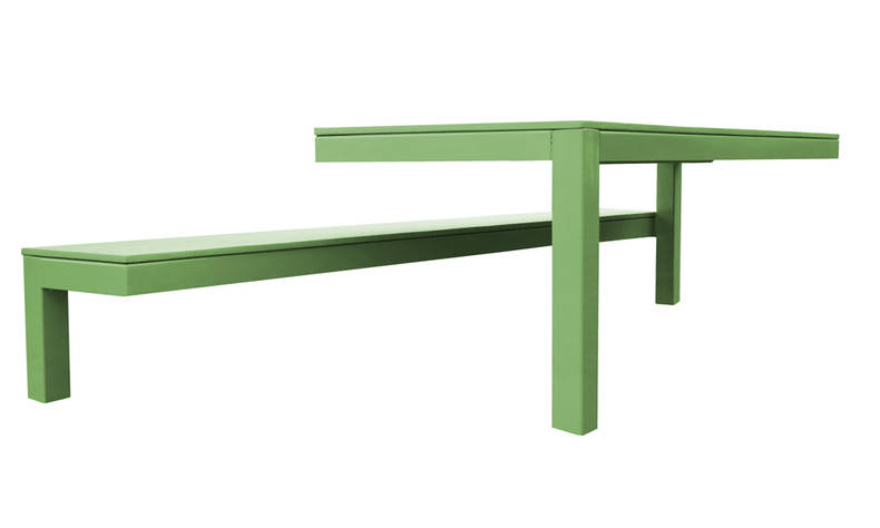 Unusual Collection '010 Outdoor Table and Bench' by Guilielmus