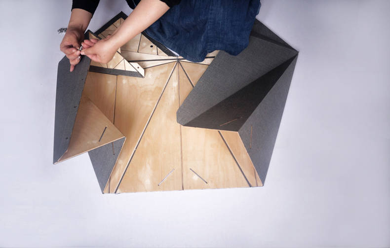 Folding and Unfolding Furniture by Ying Zhang and Ida Thonsgaard