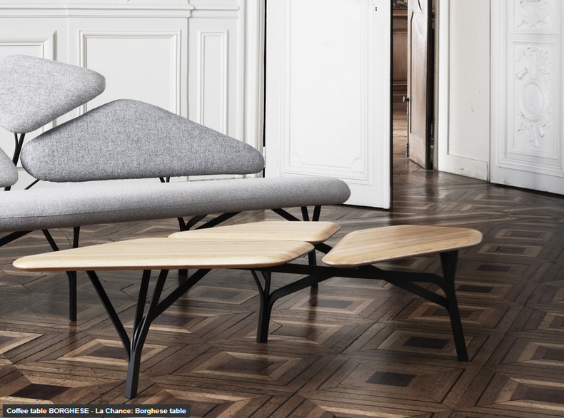 Comfortable and Stylish Sofa Plus Coffee Table by La Chance